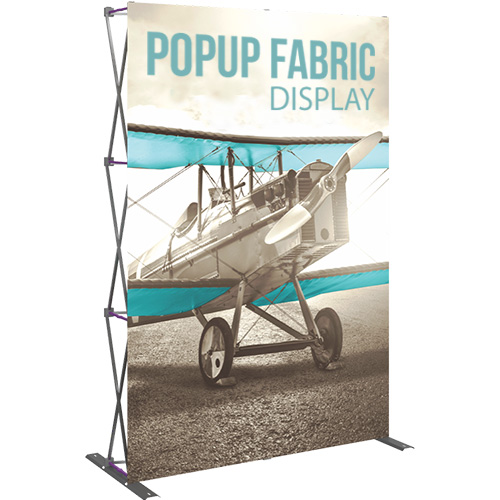 5ft Popup Fabric Display 2 X 3 Straight